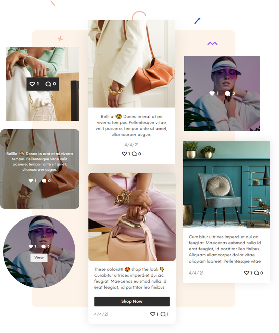 Instagram Feed for Magento 2 layouts and hover styles